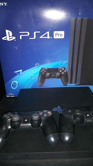 PS4 (Pro )1 TB Jet Black for Sale in Roosevelt, AZ