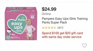 Pampers Easy Ups for Sale in Fort Worth, TX