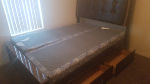 Queen size marble lined bed frame for Sale in Odessa, TX