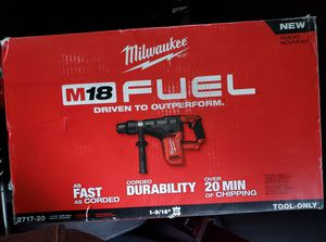 Milwaukee cordless rotary hammer drill 18 volt, Also have for sale 4 masonry drill bits, 3/8, 1/2, 5/8, and 3/4. $30 each or 4 for a $100 for Sale in Yakima, WA