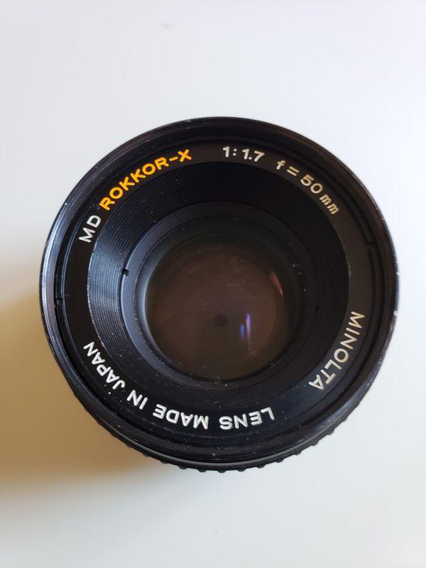 Minolta 50 mm f/1.7 Lens MD Rokkor-X Camera Lens.