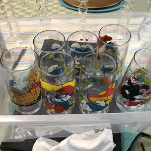 Smurf collectible glasses from 1982 and 1983 for Sale in Hialeah, FL