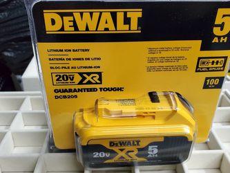 DEWALT 20V MAX XR Battery, Lithium Ion, 5.0Ah (DCB205) for Sale in Orange,  CA