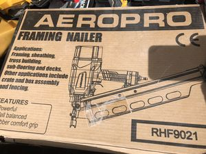 New in box nail gun with safety glasses and parts for Sale in Albuquerque, NM