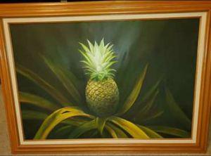 Large framed pineapple painting for Sale in Menifee, CA