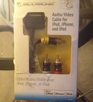 AUDIO/VIDEO Cable for iPhone, iPod, et iPad for Sale in North Little Rock, AR