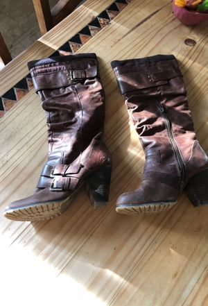Aldo leather boots size 8.5 for Sale in Tempe, AZ
