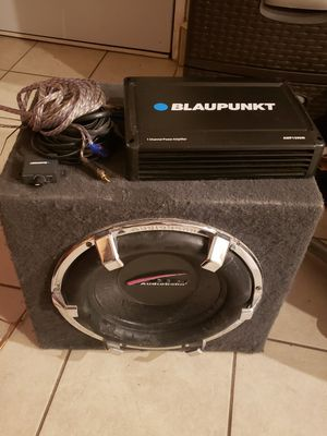 "12"" Subwoofer, Amplifier amd tweeters for Sale in City of Industry, CA"