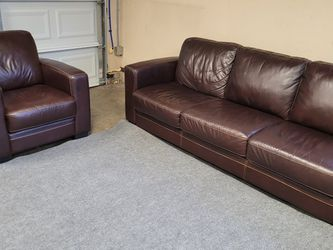 Beautiful Genuine Leather Couch Set for Sale in Renton,  WA