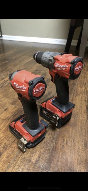 Milwaukee FUEL HAMMER DRILL & IMPACT WITH BATTERIES, CHARGER AND HARD CASE for Sale in Solon, OH
