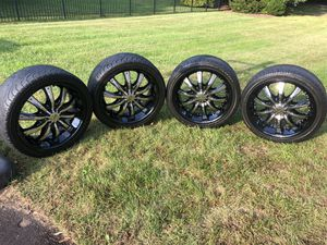 helo tire and rim(245/40ZR20 99Y) for Sale in Jackson, NJ