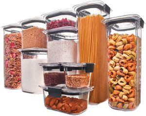 Rubbermaid Brilliance Pantry Organization & Food Storage Containers with Airtight Lids, Set of 10 (20 Pieces Total) for Sale in Ventura, CA