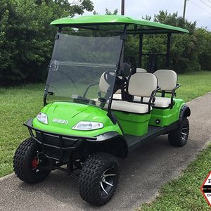 ADVANCED EV NEW LIME 4 PASSENGER ADVANCED EV LIFTED LSV STREET LEGAL LIMO GOLF CART FAST AC MOTOR HYDROLIC DISC BRAKE 2YR WARNTY TROJAN BATTERY for Sale in West Palm Beach, FL