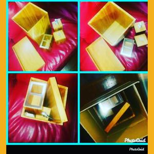 ASHLEY FURNITURE AND ACCESSORIES AND WOODEN SEVILLE VANITY BATHROOM SET NEVER BEEN USED STILL IN BOX for Sale in Washington, DC
