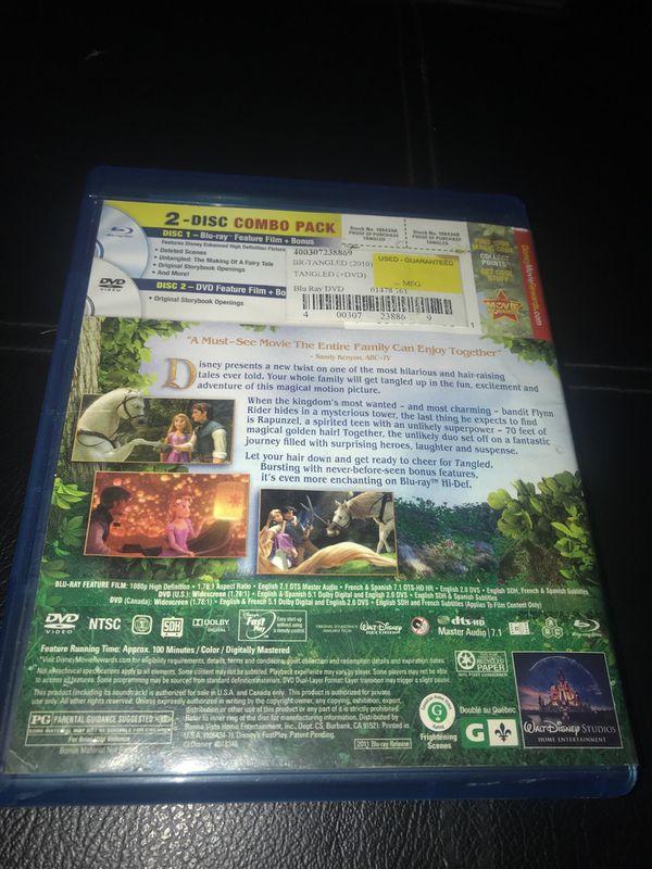 Tangled Blu-ray DVD