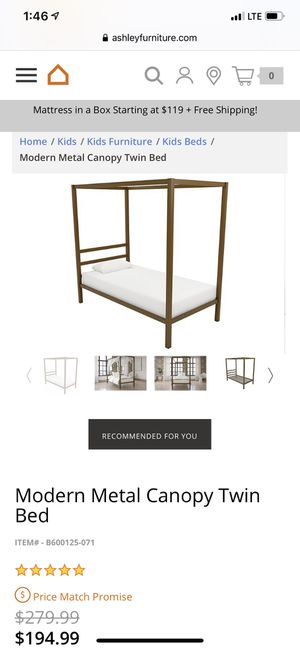 Twin canopy bed frame for Sale in Bakersfield, CA