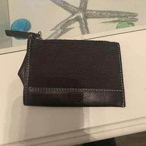 Small Coach Authentic Black Coin Purse for Sale in Longwood, FL