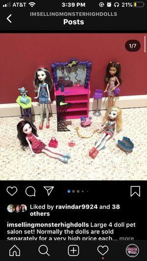Pet Salon Set 4 dolls Monster high dolls for Sale in Henrietta, NY