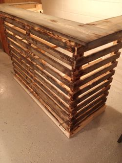 Handmade pallet style bar for Sale in Riverdale,  IA