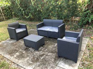 Furniture / Patio furniture / outdoor furniture / Muebles de patio /patio set / conversation set 100% made of synthetic materials poliratán - Rai for Sale in Hialeah, FL