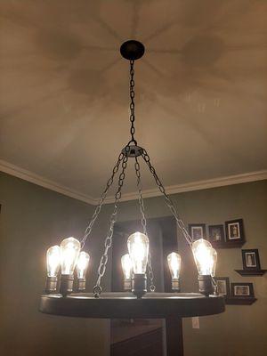 Edison bulb light fixture for Sale in Plainfield, IL