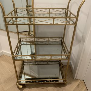 Nostalgic & Classy Gold Bar Cart for Sale in Brooklyn, NY