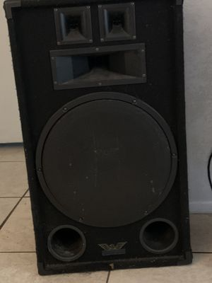 2 18in woofers Club or home Speakers for Sale in St. Petersburg, FL