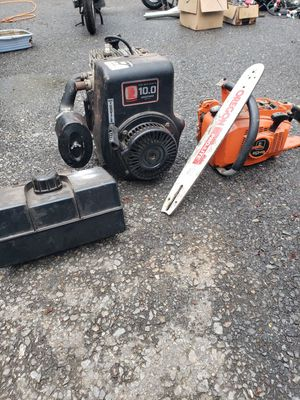 10HP engine and echo chainsaw for Sale in Bolton, MA