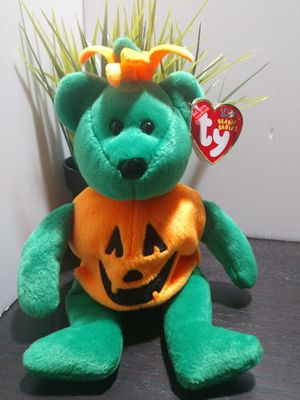 Ty Beanie Baby ~ TRICKY the Halloween Pumpkin Bear ~ with Tag for Sale in Murray, UT
