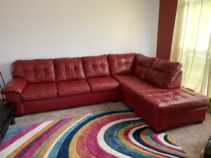 Leather sectional sofa and Futon for Sale in Aurora, IL