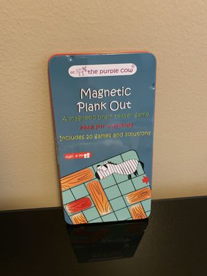The Purple Cow Magnetic Travel Plank Out Game for Sale in Streamwood, IL