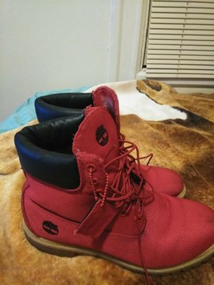 Men's red timberland shoes size 10.5 for Sale in San Francisco, CA