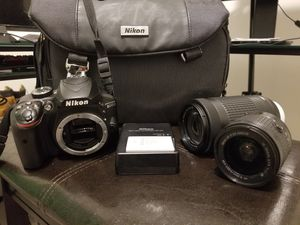 Nikon 3400 w/ Case and Lenses for Sale in Conyers, GA