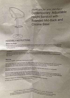 White bar stool-brand new still in box for Sale in Fort Lauderdale, FL