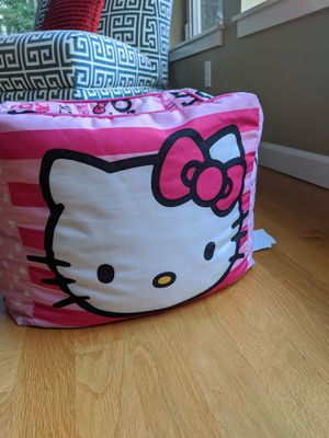 Hello Kitty ottoman cushion foot rest for Sale in Bellevue, WA