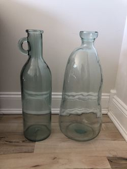 Recycled glass vases for Sale in Washington,  DC