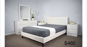Queen bedroom set new mattress not included for Sale in Palmetto Bay, FL