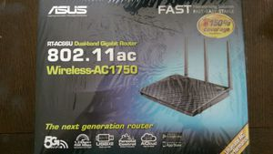 ASUS RT-AC66U AC1750 Dual-Band Gigabit Wireless Router $65 for Sale in Glendale, CA