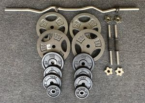 Weights 145LBS with Curl Bar and Handle Bars for Sale in Jacksonville, MD