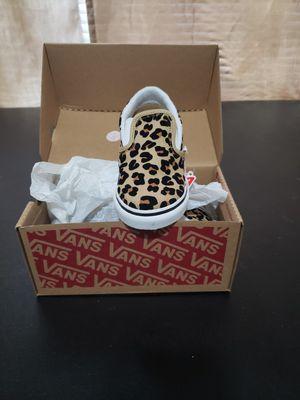 VANS LEOPARD/TRUE WHITE NEW size 10c.6c.11c.13c for Sale in San Antonio, TX