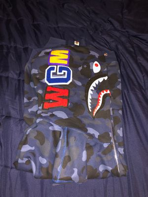BAPE Fullzip Camo Blue Hoodie for Sale in Baltimore, MD