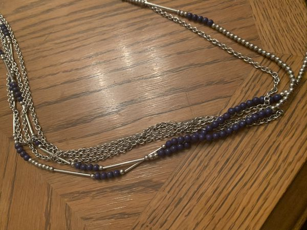Blue & Silver long necklace
