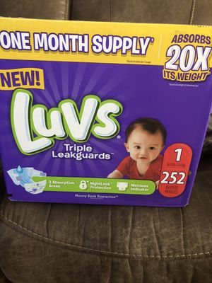 Luvs size 1 diapers 252 count! for Sale in Irmo, SC