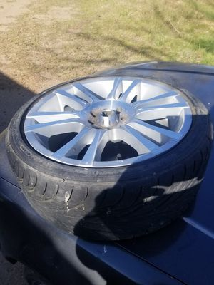 17 inch 4 lug universal rims and tires for Sale in Brighton, CO