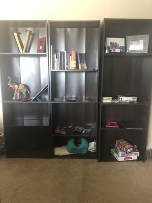 Chocolate Wood Bookshelves for Sale in Mount Rainier, MD