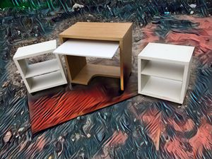 Small desk with to side tables for Sale in Houston, TX