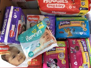 Training Pull-ups, Diapers box or packs and baby wipes for Sale in Lehigh Acres, FL
