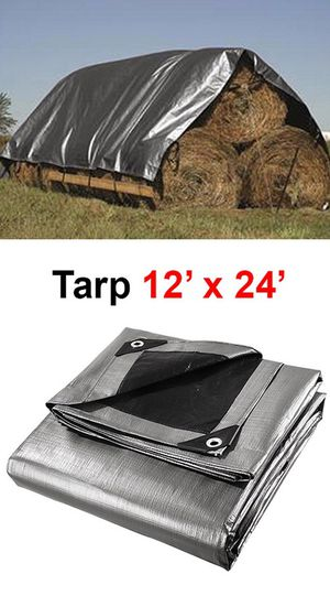 $25 NEW Heavy Duty 12'x24' 10mil Canopy Poly Tarp Reinforced Tent Car Boat Cover Tarpaulin for Sale in Pico Rivera, CA
