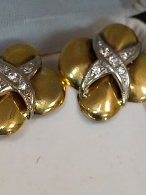 SOLID ,Gold DIAMOND EARRINGS for Sale in Leesburg, VA