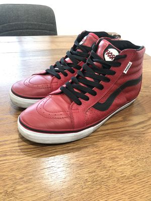 Vans Hosoi High Leather RED for Sale in Upland, CA